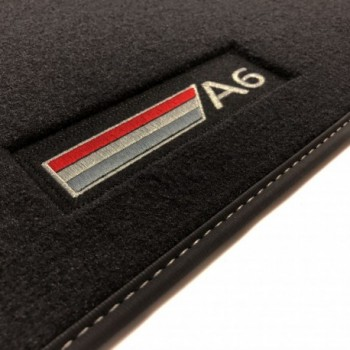 Tapetes Audi A6 C6 Restyling Avant (2008 - 2011) veludo logo