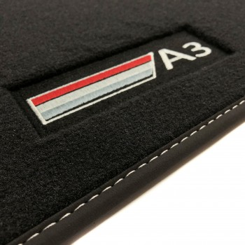 Tapetes Audi S3 8V (2013 - atualidade) veludo logo