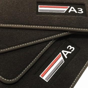 Tapetes Audi A3 8P Hatchback (2003 - 2012) veludo logo