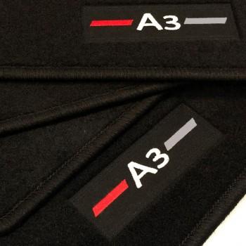 Tapetes Audi A3 8VA Sportback (2013 - atualidade) à medida logo