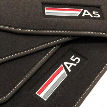 Tapetes Audi A5 8TA Sportback (2009 - 2017) veludo logo