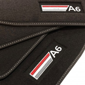 Tapetes Audi A6 C4 (1994 - 1997) veludo logo