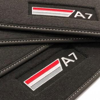 Tapetes Audi A7 veludo logo (2010-2017)