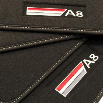 Tapetes Audi A8 D4/4H (2010-2017) veludo logo