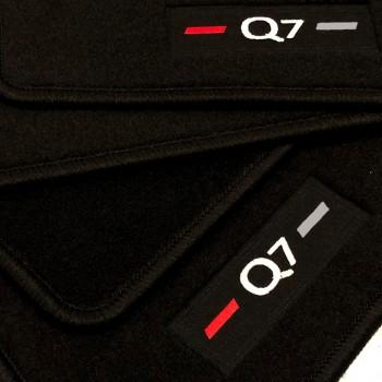 Tapetes Audi Q7 4M 7 bancos (2015 - atualidade) à medida logo