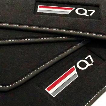 Tapetes Audi Q7 4M 7 bancos (2015 - atualidade) veludo logo