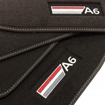 Tapetes Audi S6 C6 Avant (2006 - 2010) veludo logo
