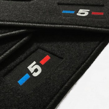 Tapetes BMW Série 5 F11 Touring (2010 - 2013) à medida logo