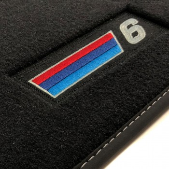 Tapetes BMW Série 6 F06 Gran Coupé (2012 - atualidade) veludo M Competition