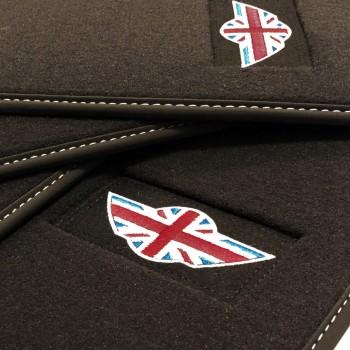 Tapetes Mini Cooper / One R50 (2001 - 2007) veludo logo Mini