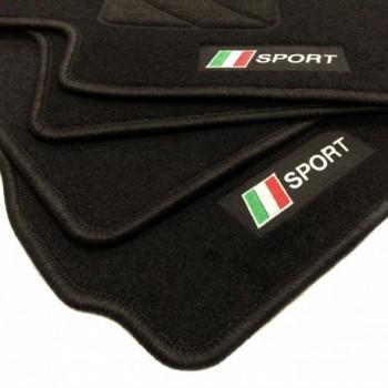 Tapetes flag Itália Fiat Punto Abarth Evo 3 bancos (2010 - 2014)