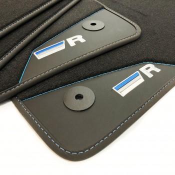 Tapetes para o automóvel Volkswagen Scirocco (2012 - atualidade) acabamento R-Line Azul